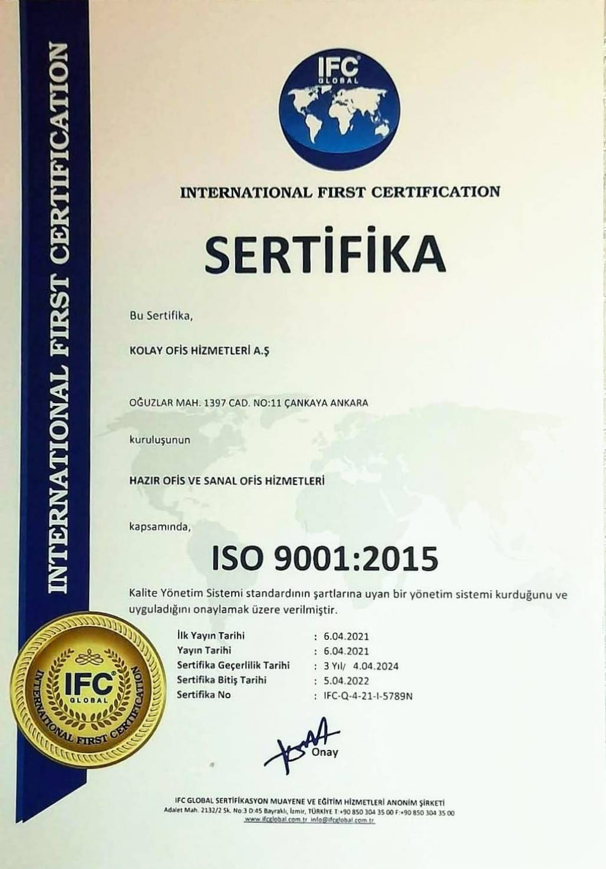 sanal ofis iso 9001 sertifikası